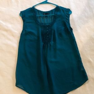 Gap VGUC Teal Blouse size small